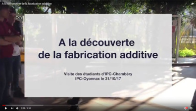 A la découverte de la fabrication additive !