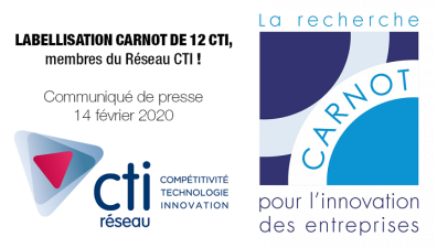 Attribution du label Carnot pour 4 ans à 37 instituts dont 12 CTI !